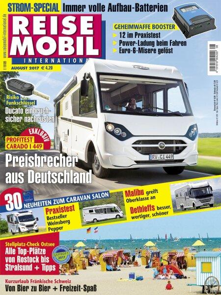 Reisemobil International 8/2017 E-Paper oder Print-Ausgabe