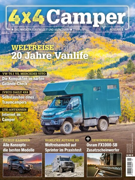 "4x4 Camper 01/2020 ""20 Jahre Vanlife"" E-Paper oder Print-Ausgabe"