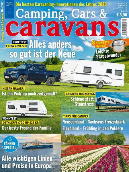 Camping, Cars & Caravans 3/2020 E-Paper oder Print-Ausgabe