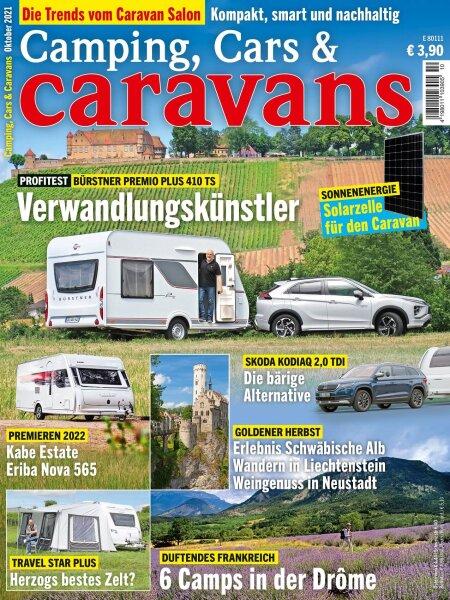 Camping, Cars & Caravans 10/2021 E-Paper oder Print-Ausgabe