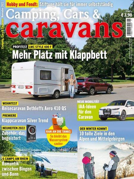 Camping, Cars & Caravans 11/2021 E-Paper oder Print-Ausgabe