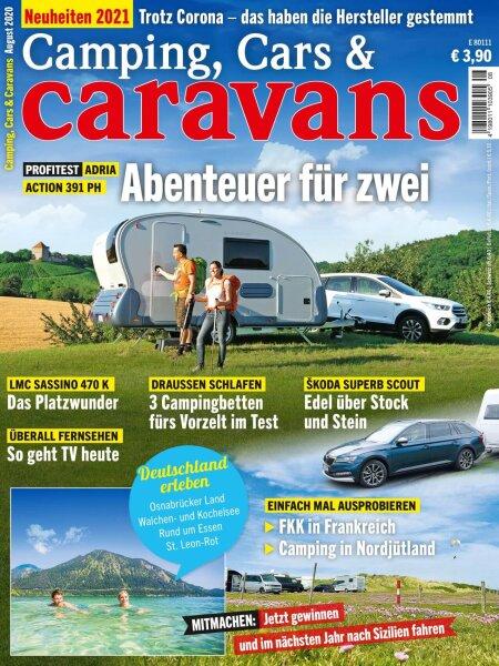 Camping, Cars & Caravans 8/2020 E-Paper oder Print-Ausgabe