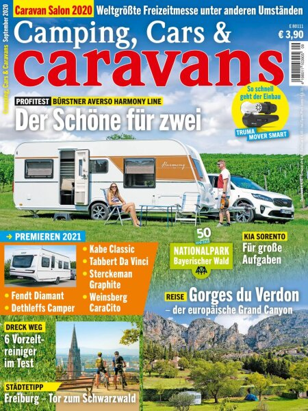 Camping, Cars & Caravans 9/2020 E-Paper oder Print-Ausgabe