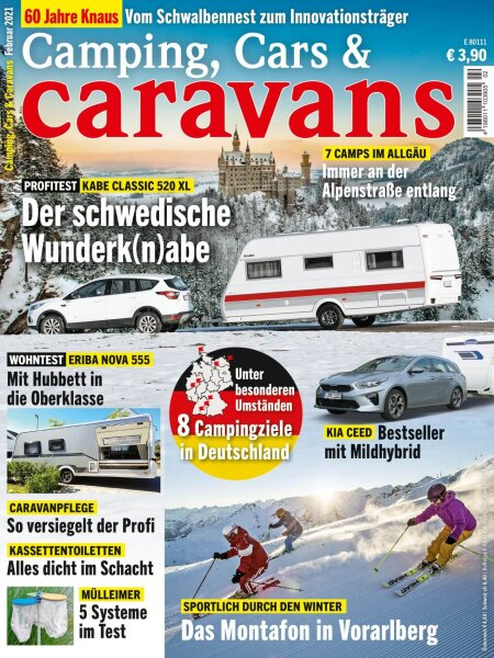 Camping, Cars & Caravans 2/2021 E-Paper oder Print-Ausgabe