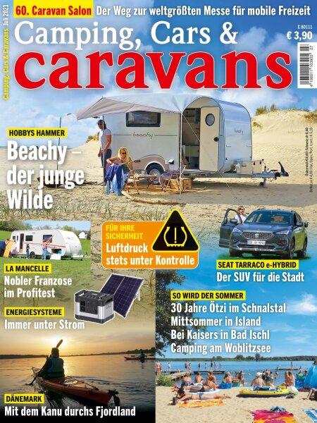 Camping, Cars & Caravans 7/2021 E-Paper oder Print-Ausgabe