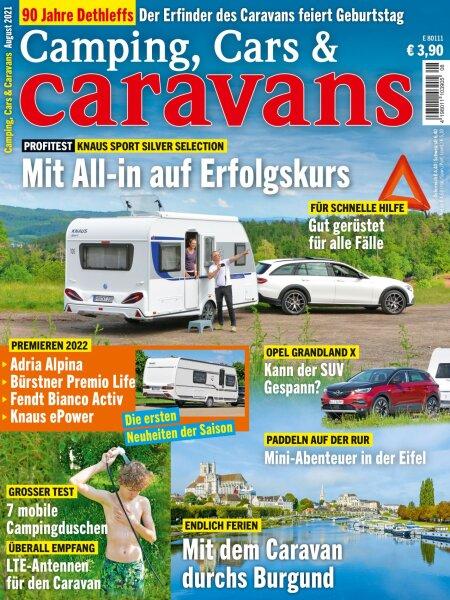 Camping, Cars & Caravans 8/2021 E-Paper oder Print-Ausgabe