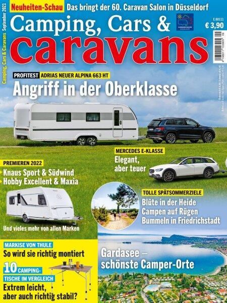 Camping, Cars & Caravans 9/2021 E-Paper oder Print-Ausgabe